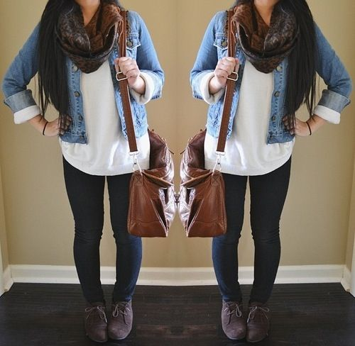 Casual outfit with jeans jacket. :)