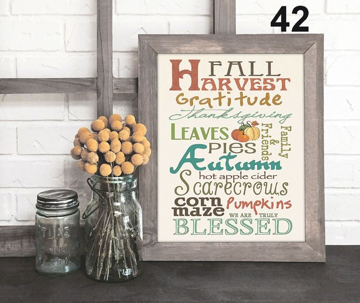 It's Gratitude, Blessings, Family, Love & Faith...it's unique art with significant meaning. Happy Fall Y'all!
