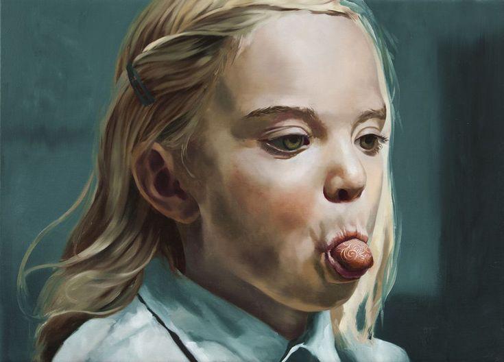 Markus Åkesson, Girl with a cloisonne tongue, 2014