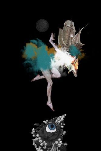 Desember by Resatio Adi Putra, fine art print available at Lumarte Art Online: http://www.lumarte.eu/en/resatio-adi-putra/desember-w1503 #resatioadiputra #lumarteartonline #lumarte #fineartprint #collage #fineart #art #illustration #fox #giclee