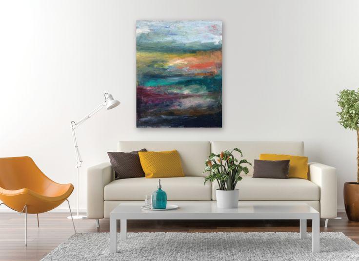'Towards Home' acrylic on canvas, 32x40 inches. Available soon.