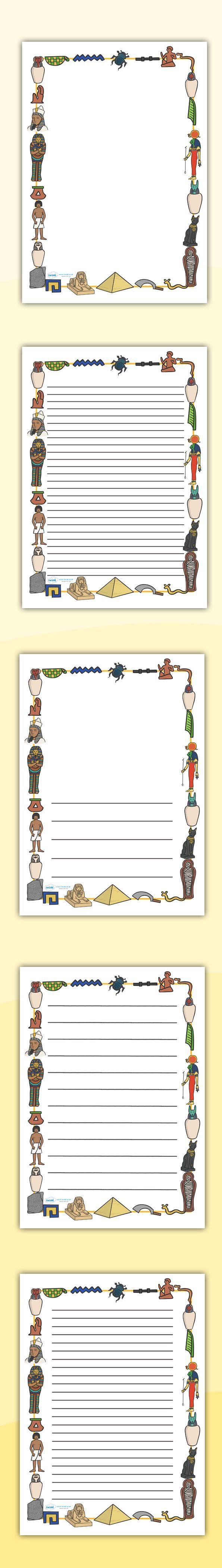 Best 25 egypt crafts ideas on pinterest ancient egypt crafts ancient egyptian page borders free printables robcynllc Images