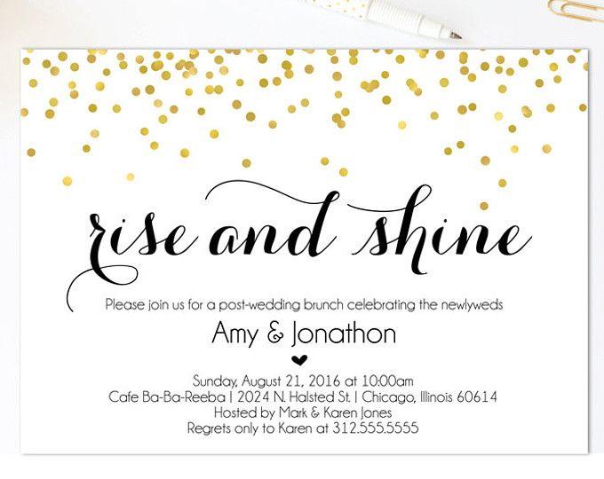 Post Wedding Brunch Invitation Wording: Best 25+ Brunch Invitations Ideas On Pinterest