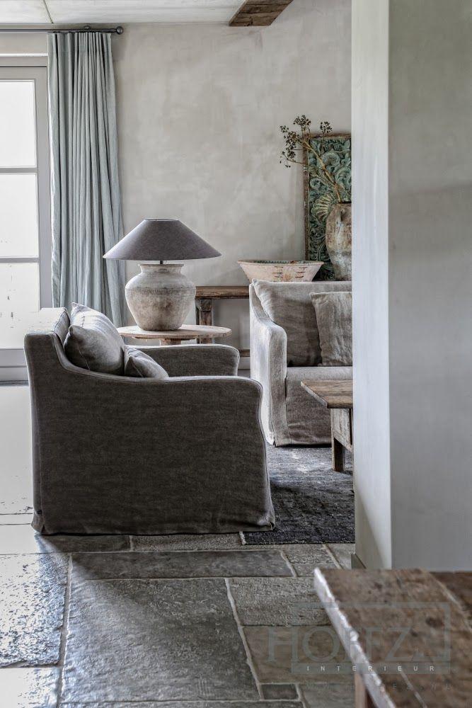 Edda Interiør: Historien bak Hoffz lime wash on walls in living room