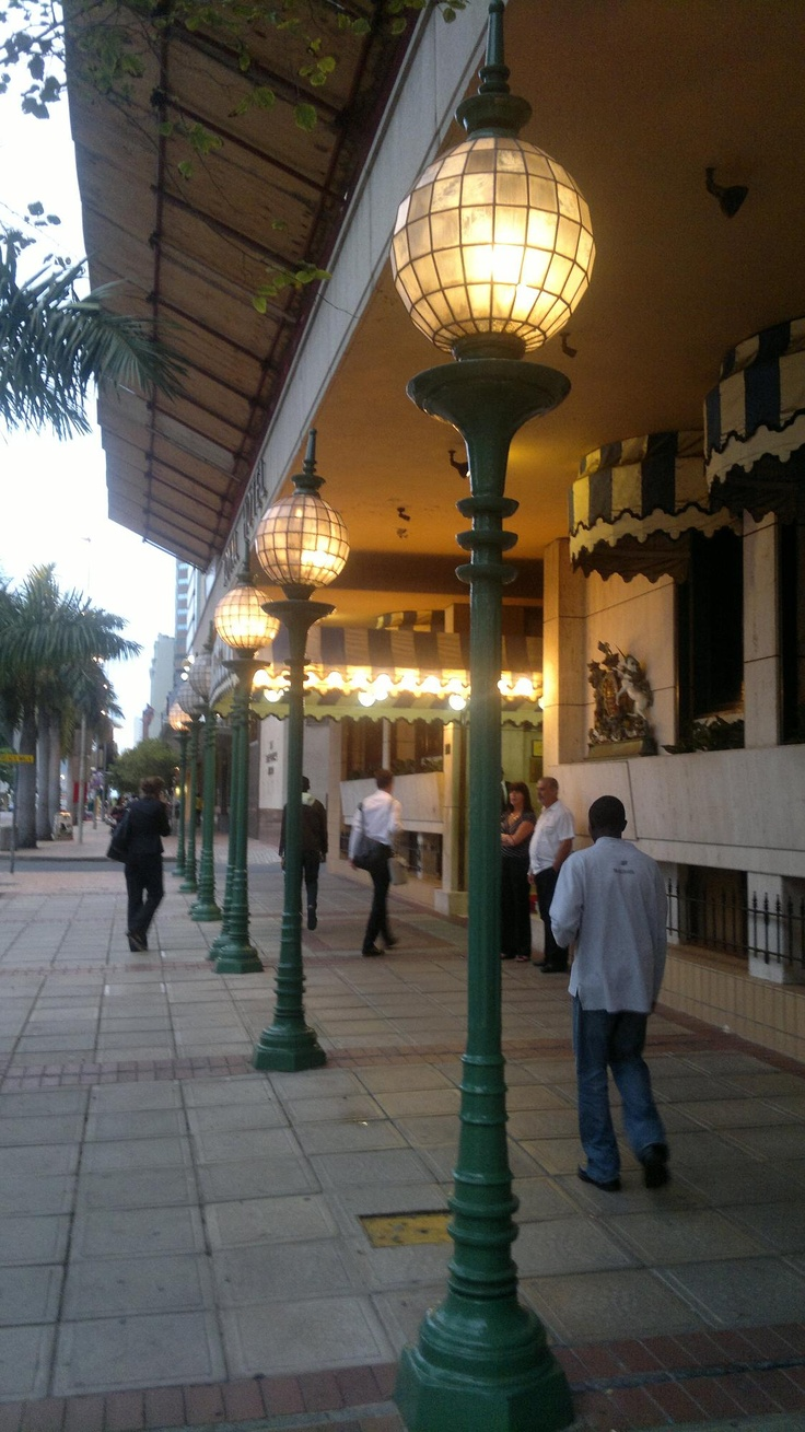 The area outside the front entrance of the Royal Hotel in the Durban CBD