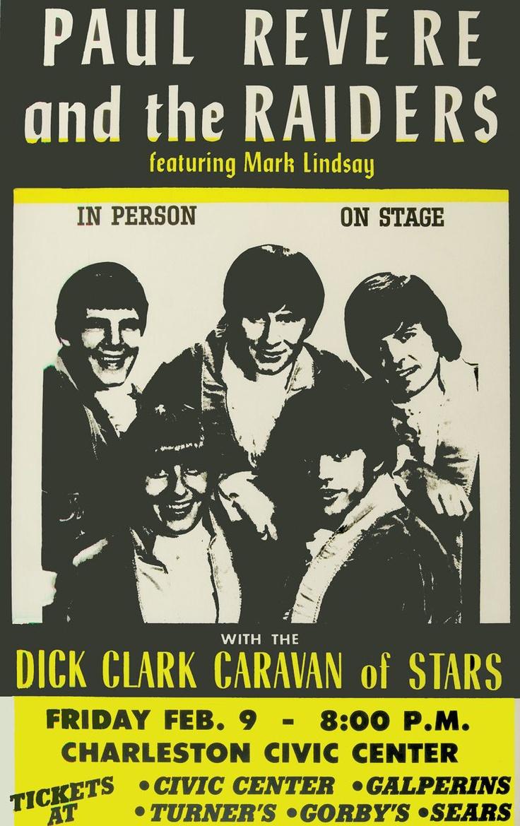Paul Revere & The Raiders with the Dick Clark Caravan of Stars Concert Poster