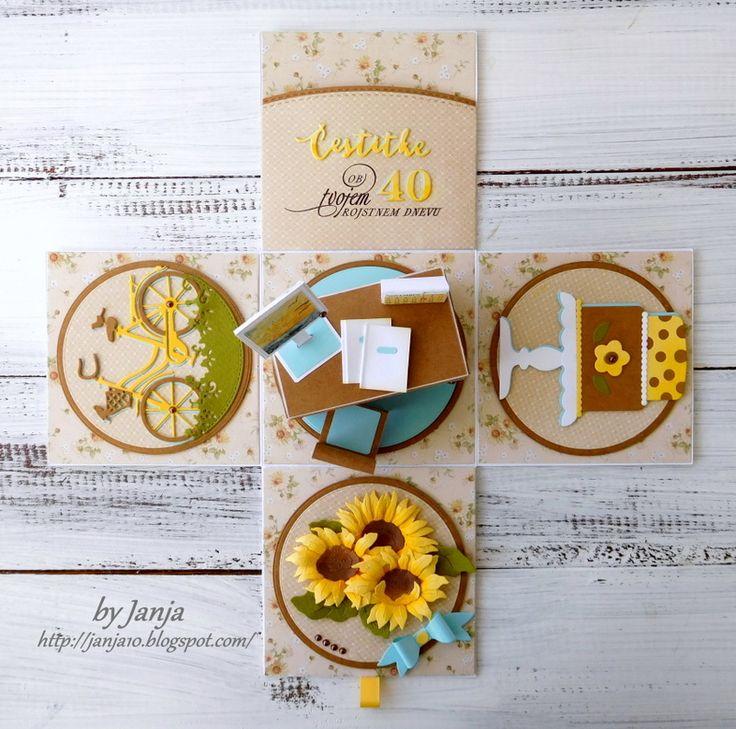 CottageCutz dies - sunflowers, build-a-bow, sweetheart tiered cake, spring tweetie