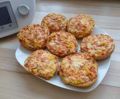 Rezept Pizzabrötchen / Gemüse-Schmand-Brötchen / Pizzasemmeln von Mia.Stella - Rezept der Kategorie Brot & Brötchen