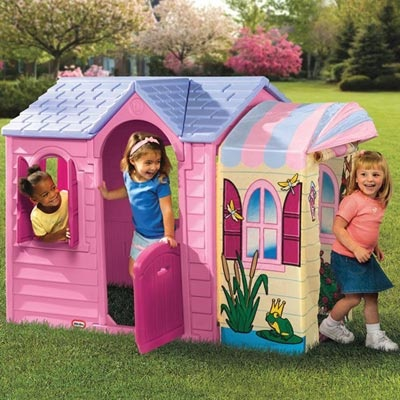 Little Tikes Princess Garden Plastic Playhouse
