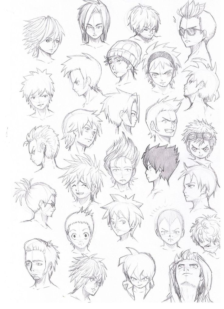 Boy Haircuts Drawing : Ideas about anime hairstyles male on