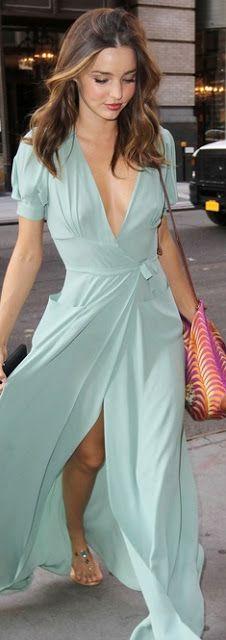 mint maxi wraparound dress