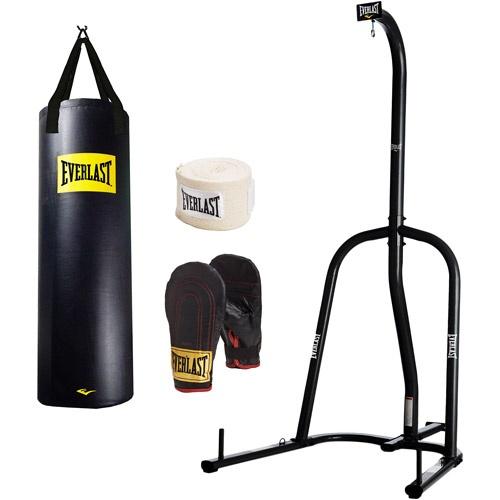 Everlast lb heavy bag gloves and stand value bundle
