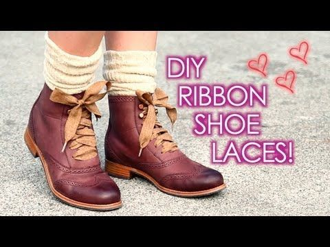 DIY Ribbon Shoe Laces: Cute + Easy Take those old shoes in the coroner and jazz them up!