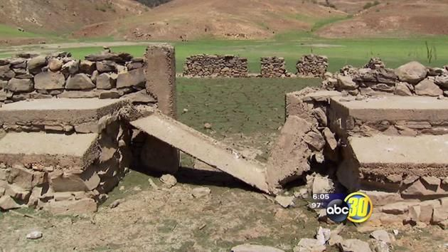 The Fresno County Sheriff's Office said theses images are the remains of an old jail which was once part of the Trimmer Springs community.