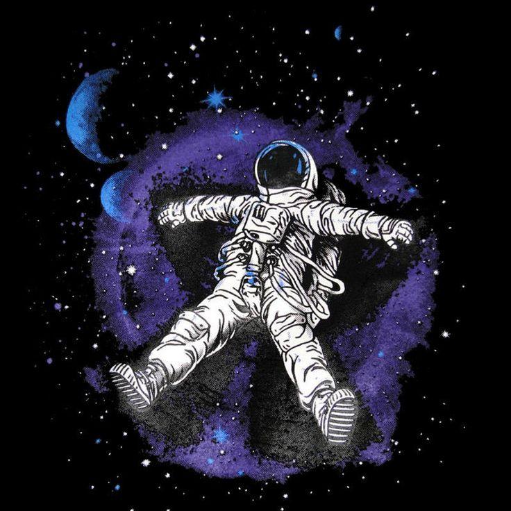 Moon Man Astronaut Star Angel Space Mens T-SHIRT alien nasa fun parody tee S-XXL