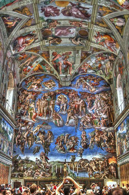 Sistine Chapel, Vatican City, Rome, Italy by virt_, via Flickr