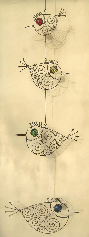 Four Wire Birds Mobile Sculpture. $54.00, via Etsy.