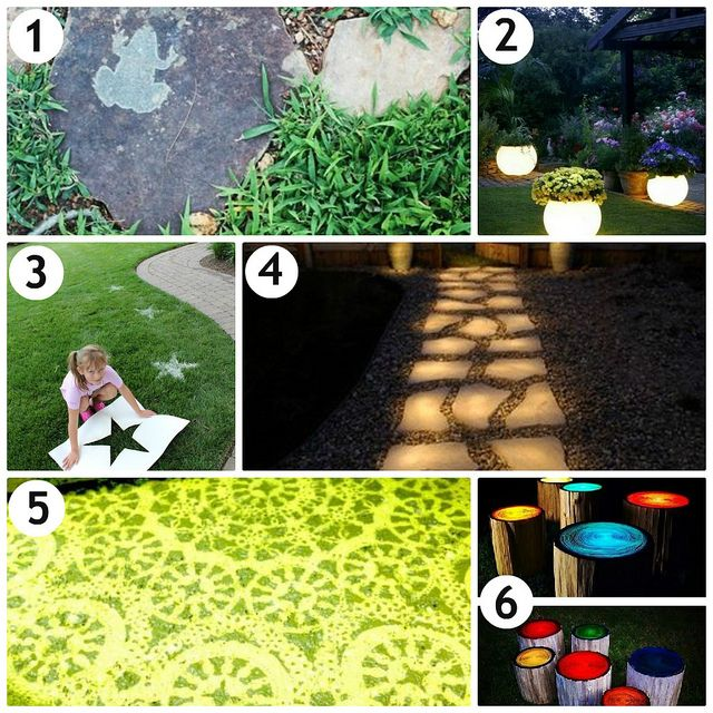 Glowing Outdoor Fireplace Ideas: #Creative Outdoor Ideas With #Glow In The Dark #Paint