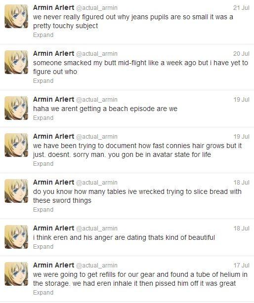 Armin Arlert Twitter - Thanks @Hannah Mestel Mestel Mestel Bowling