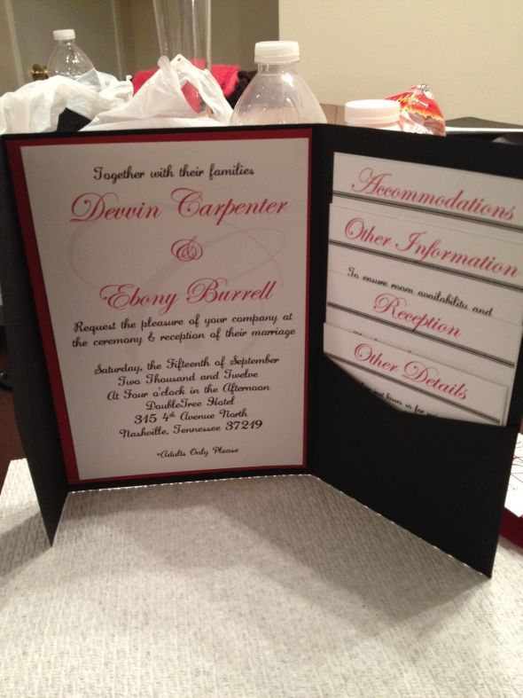 DIY WEDDING INVITATIONS!!!!!!! :  wedding black diy invitations red white Photo 16