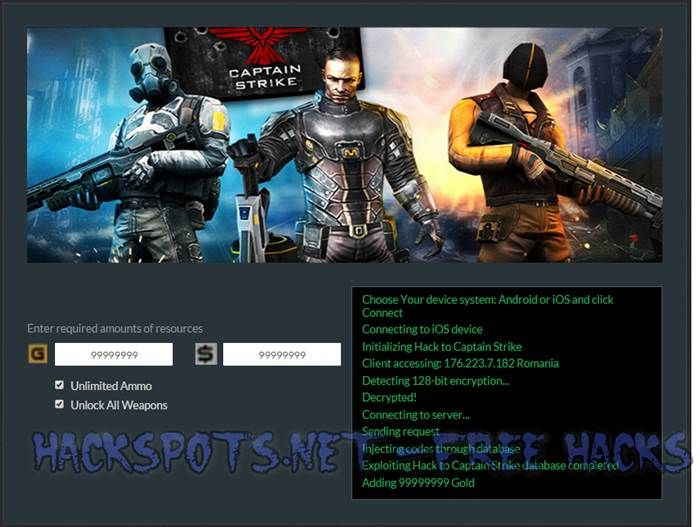 Captain Strike Hack Cheats iOS Android