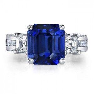Emerald cut sapphire :)