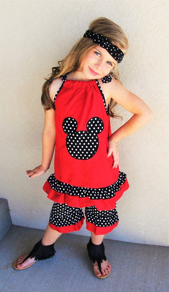 Red Black Polka Dot Minnie Set #boutique-outfits #clearance #daily-deal #daily-deals #new #perfect-sets #spring-line