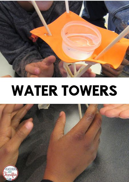 STEM Challenge! Water towers are so fun to build, but the best part is testing…