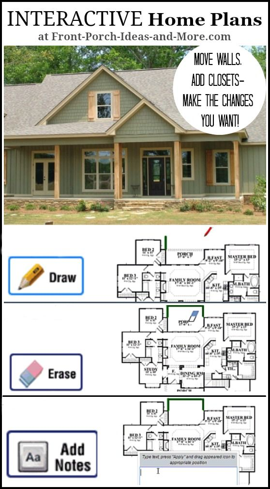 Use this interactive portal to search for quality hand-crafted home plans AND make modifications & work with the designers!