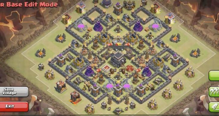 Clash of Clans Town Hall 9 War Base 3 Anti Hog Anti Golem
