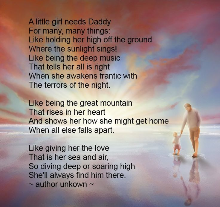 Fathers Day Poem - A Little Girl Needs Daddy