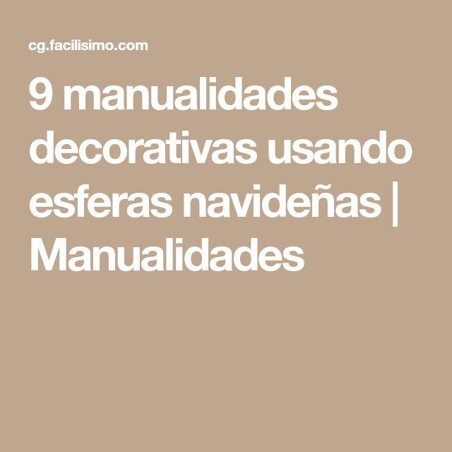 9 manualidades decorativas usando esferas navideñas | Manualidades
