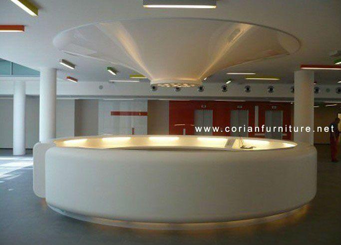 ds 014 new design modular round information reception desk - Library Circulation Desk Design