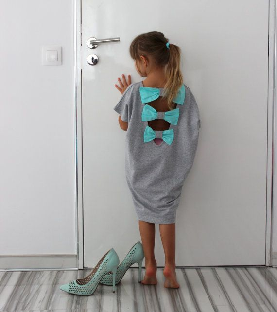 Oversized Spring Summer Grey elastic cotton backless caftan dress for girls /blouson dress/party dress