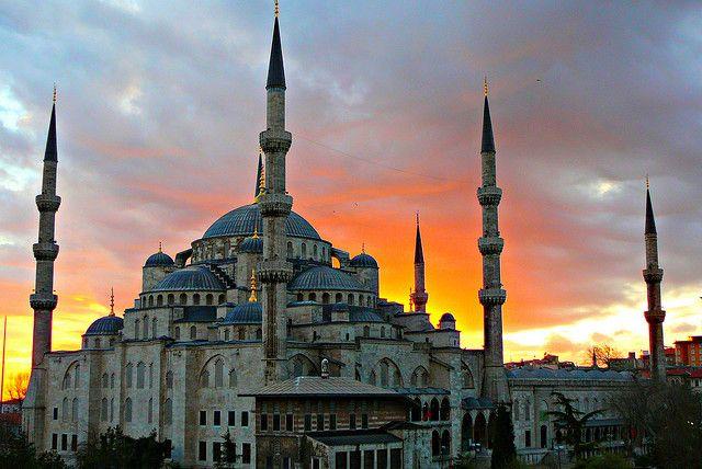 海外旅行世界遺産 スルタンアフメト・モスク(ブルーモスク) トルコの絶景写真画像ランキング  トルコ