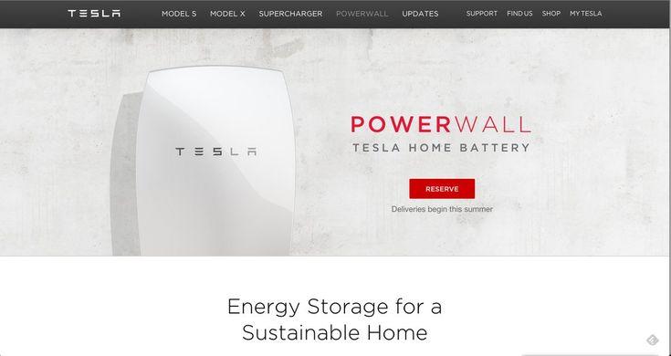 Elon Musk presenta Powerwall y Powerpack, baterías que acumulan energía procedente de paneles solares o de la red electrica cuando el precio de la electricidad es más economico, y lo suministran después cuando es más cara #tesla #baterias #powerwall #powerpack #medioambiente #sostenibilidad #energia #electricidad