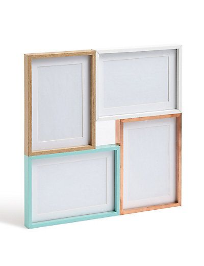 Copper And Silver Multi Aperture Photo Frame | M&S