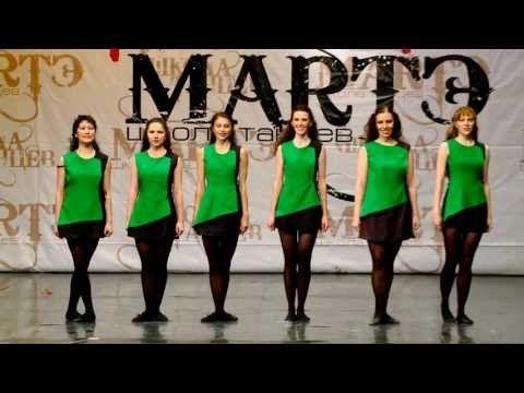 """Народные танцы мира. Ирландский танец """"Reel"""" в школе танцев МАРТЭ 2013г. - YouTube"""