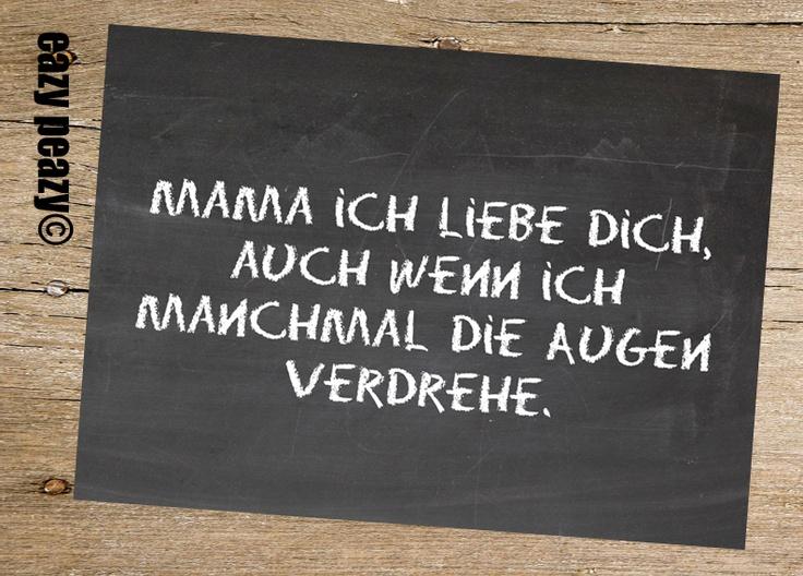 ★ Mama ich liebe dich... ★ Postkarte Chalkboard ★