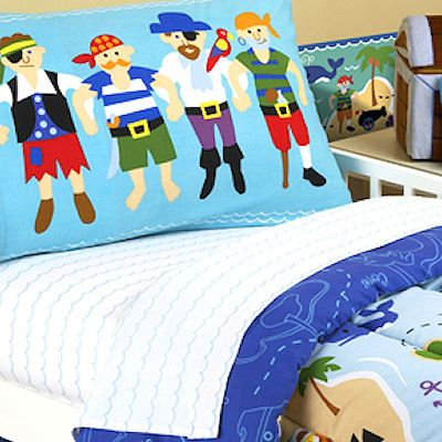 Twin Size Bedding For Little Boys Pirates Bed Sheets Set