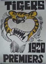 RICHMOND TIGERS AFL - WEG 1920 PREMIERS POSTER
