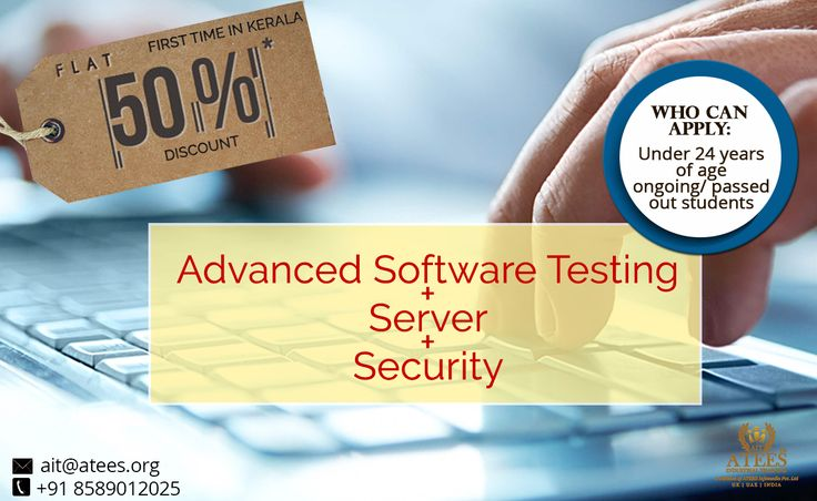 Our Special Course Advanced Software Testing + Server + Security ATEES Industrial Training 2nd Floor Ananya Tower M.G Road Thrissur,Kerala,India Call : 8589012025, 9287212121 & 0487-2445556 #GraphiccourseinThrissur #DesigningcourseinThrissur #SoftwaretestingcourseinThrissur #SoftwaretestingtraininginThrissur  #TestingcourseinThrissur #SEOcourseinThrissur #SEOcoursetraininginThrissur #DigitalmarketingcourseinThrissur #DigitalmarketingtraininginThrissur