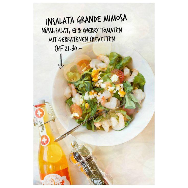 Vor dem Weihnachtsschmaus noch etwas leggermente geniessen? Wie wärs mit einem Insalate Grande Mimosa bei uns im SPIGA!