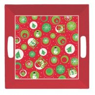 Christmas 26cm Square Tray with Handles $10.95  20050024