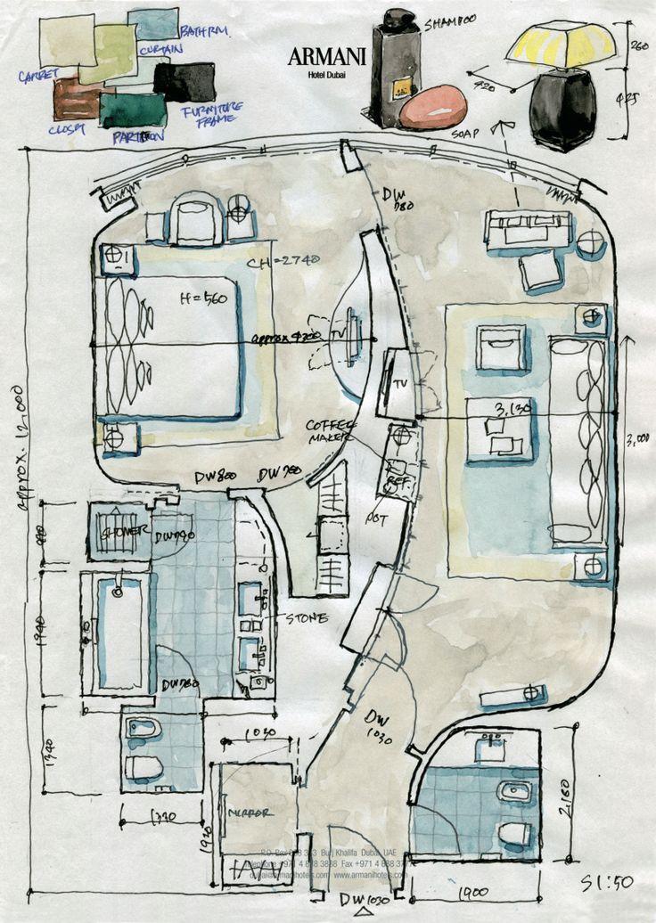 Armani Hotel Dubai Text & Sketch by Ura Kazuya