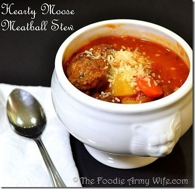 Hearty Moose Meatball Stew | A Soul-Warming #SundaySupper