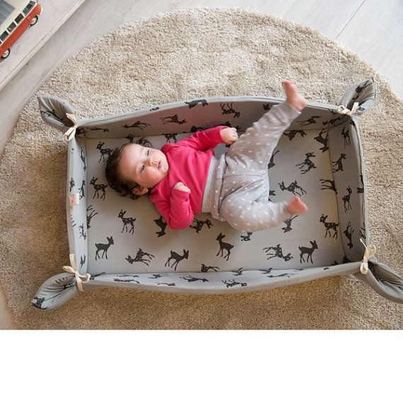 Baby play mat with bambi print in grey free shipping by bubabella