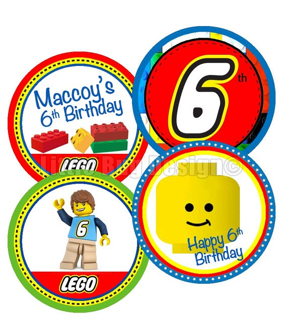 Lego Cupcake Toppers Printable Lego Party by ...