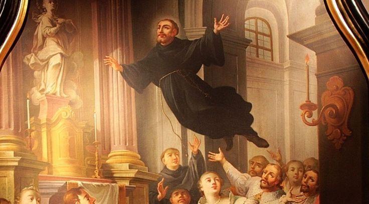 San José de Cupertino (1603-1663), patrono de estudiantesy conocido como el santo volador, fue bendecido por Dios con muchos milagros que él siempre atribuía a la intercesión de la Santísima Virgen María.