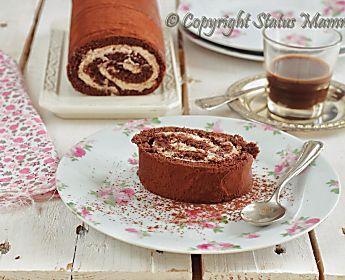 Ricetta rotolo al cacao con crema fredda al caffè